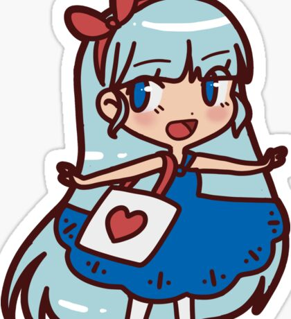 Cute Blue-haired Girl Sticker