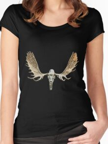 Moose skull Women's Fitted Scoop T-Shirt