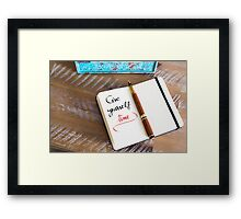 Give Yourself Time Framed Print