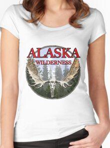 Alaska wilderness  Women's Fitted Scoop T-Shirt