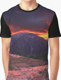 SAN GABRIEL MOUNTAIN SUNSET Graphic T-Shirt