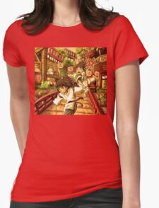 Haku and Chihiro Womens Fitted T-Shirt