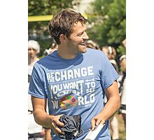 Misha Collins - Laughter Photographic Print