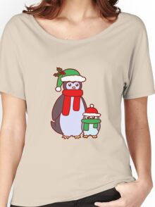 Mama and Baby Christmas Penguins Women's Relaxed Fit T-Shirt