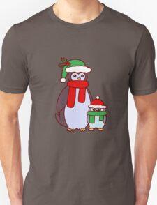 Mama and Baby Christmas Penguins T-Shirt