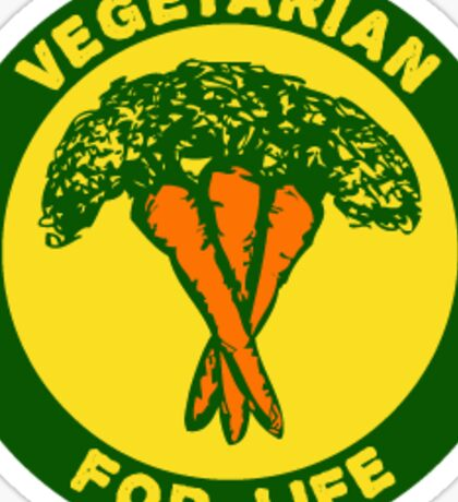 Vegetarian For Life Sticker