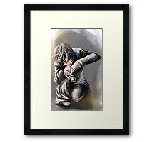 N, Death Note  Framed Print