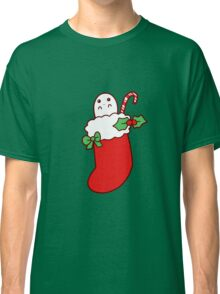 Cute Christmas Stocking Ghost Classic T-Shirt