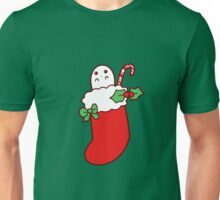 Cute Christmas Stocking Ghost Unisex T-Shirt