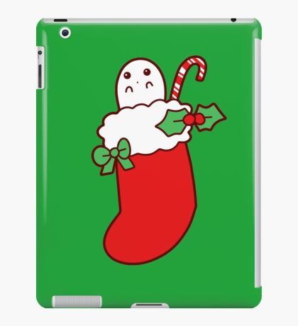 Cute Christmas Stocking Ghost iPad Case/Skin