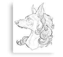 Dog Girl Canvas Print