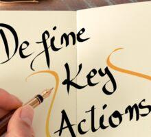 Define Key Actions Sticker