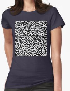 Leopard dots Womens Fitted T-Shirt