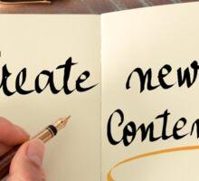 Create New Content Sticker