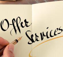 Offer Services Sticker