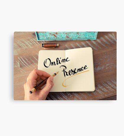 Online Presence Canvas Print