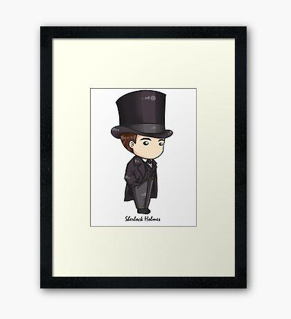 Sherlock Holmes Chibi Framed Print