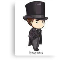 Sherlock Holmes Chibi Canvas Print