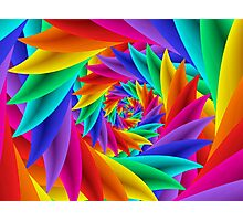 Psychedelic Rainbow Spiral  Photographic Print