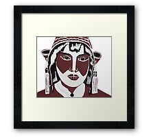 Ethnic woman Framed Print