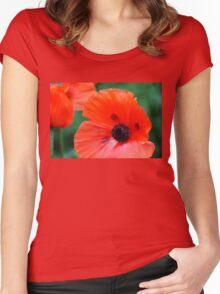 Crepe Paper Petals Women's Fitted Scoop T-Shirt