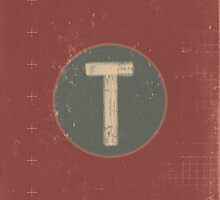 Retro Letter T by alphabeautiful