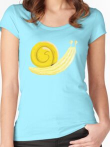 Banana Snail Women's Fitted Scoop T-Shirt