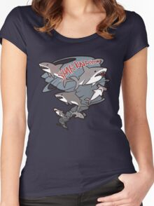 Cute Sharknado Women's Fitted Scoop T-Shirt