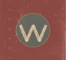 Retro Letter W by alphabeautiful