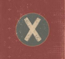 Retro Letter X by alphabeautiful