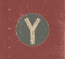 Retro Letter Y by alphabeautiful