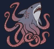 Cute Sharktopus One Piece - Short Sleeve