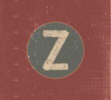 Retro Letter Z by alphabeautiful