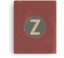 Retro Letter Z Canvas Print