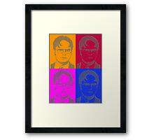Ascii Dwight - Color Framed Print