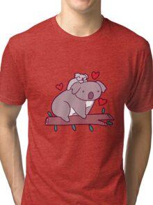 Kawaii Mama and Baby Koala Tri-blend T-Shirt