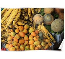 Colorful Exotic Fruit Poster