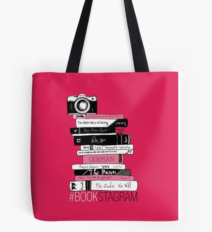 #BOOKSTAGRAM (Rose Red!) Tote Bag