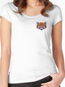 Red Panda Poly Print Women's Fitted Scoop T-Shirt