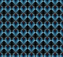 Illusion Pattern in Blue and Black by louise reeves