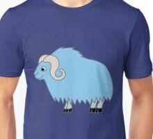 Light Blue Buffalo with Horns Unisex T-Shirt