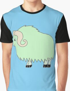 Light Green Buffalo with Horns Graphic T-Shirt
