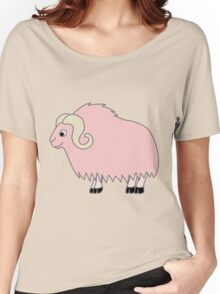 Light Pink Buffalo with Horns Women's Relaxed Fit T-Shirt