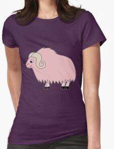 Light Pink Buffalo with Horns Womens Fitted T-Shirt