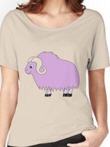 Light Purple Buffalo with Horns Women's Relaxed Fit T-Shirt