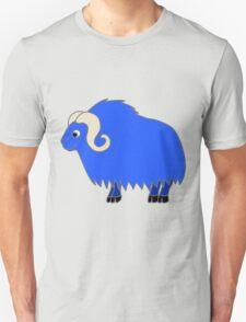 Blue Buffalo with Horns Unisex T-Shirt