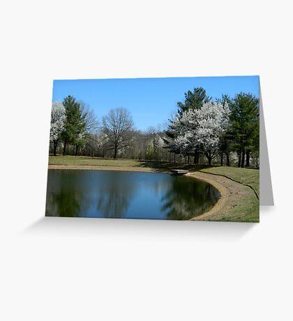 Springtime Neighborhood Walk - 2       ^ Greeting Card