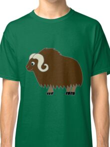 Brown Buffalo with Horns Classic T-Shirt