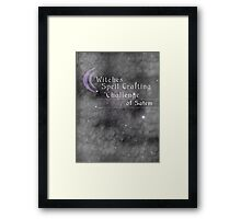 Witches Spell Crafting Challenge of Salem  Framed Print