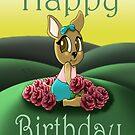 """""""Deer Cutie Birthday Card"""" (blank inside) by treasured-gift"""